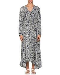 Natalie Martin - Fiore Folkloric Floral Silk Maxi Dress - Lyst