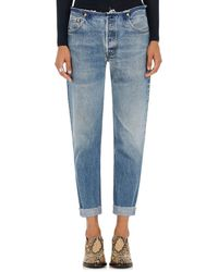 RE/DONE - No Waist Relaxed Jeans - Lyst