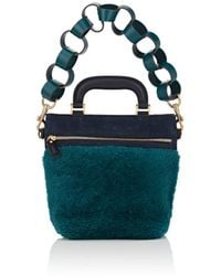 Anya Hindmarch - Orsett Mini Shearling & Suede Shoulder Bag - Lyst