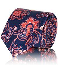 Barneys New York - Paisley Silk Satin Necktie - Lyst