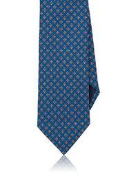 Barneys New York - Mini-floral-medallion-print Silk Faille Necktie - Lyst