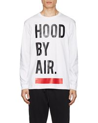Hood By Air - Logo Cotton Long-sleeve T-shirt - Lyst