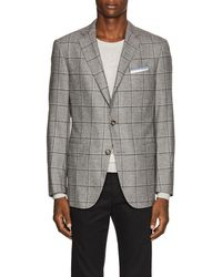 Pal Zileri - Checked Wool-silk Two-button Sportcoat - Lyst