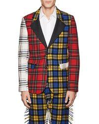Moschino - Fringed Plaid Wool Flannel Sportcoat Size 48 Eu - Lyst