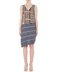 Rhié - Silk & Cotton Combo Dress - Lyst