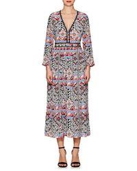 L'Agence - Rosalia Paisley Silk Maxi Dress Size 0 - Lyst