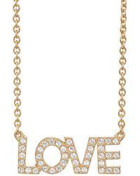 Zadig & Voltaire - love Pendant Necklace - Lyst