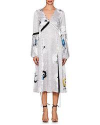 Prabal Gurung - Mixed-print Silk Charmeuse Dress - Lyst