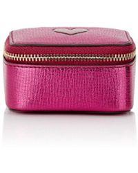 Anya Hindmarch - Small Metallic Leather Trinket Case - Lyst