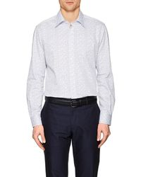 Luciano Barbera - Dotted Cotton Poplin Shirt - Lyst