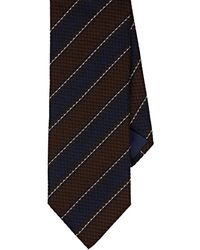 Barneys New York - Textured-striped Silk - Lyst