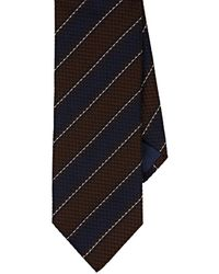 Barneys New York - Textured-striped Silk-cotton Jacquard Necktie - Lyst