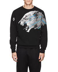 Marcelo Burlon Cat-print Cotton Sweatshirt - Black