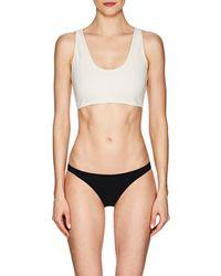 Rochelle Sara - The Fabi Back-zip Bikini Top - Lyst