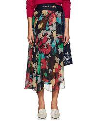 Sacai - Floral Gathered Wrap Midi-skirt - Lyst