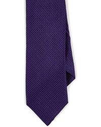 Barneys New York Geometric-pattern Silk Satin Necktie - Purple