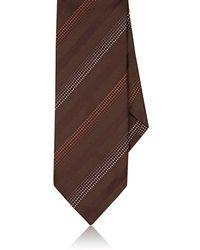 Dolcepunta - Dotted-stripe Silk Necktie - Lyst