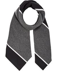 Thom Browne - Striped Cashmere & Silk Scarf - Lyst