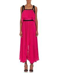 Philosophy Di Lorenzo Serafini - Pleated Chiffon Maxi Dress - Lyst