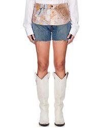 Maison Margiela - Floral Overlay Denim Shorts - Lyst