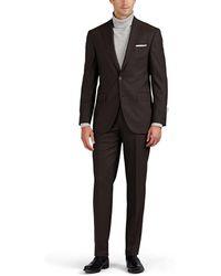 Piattelli - Plain-weave Wool Two-button Suit - Lyst