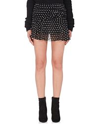 34c7888dd7c Saint Laurent - Polka Dot Gathered Miniskirt - Lyst