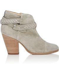 Rag & Bone - Harrow Braided Suede Ankle Boots - Lyst