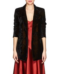 Blazé Milano - Everyday Floral Velvet Double-breasted Blazer - Lyst
