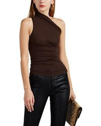 3e4bbe1dae4b4 Rick Owens Ribbed Cashmere Tank Top in Black - Lyst