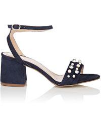 Barneys New York - Embellished Suede Sandals - Lyst