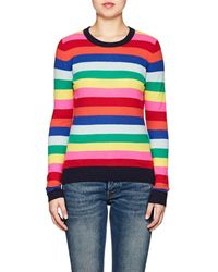 Barneys New York - Striped Cashmere Crewneck Sweater - Lyst