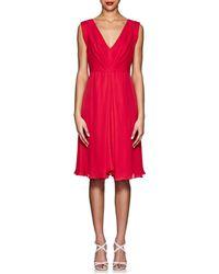 Giorgio Armani - Silk Pleated Dress - Lyst