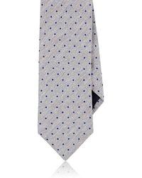 Barneys New York - Dotted Silk-linen Necktie - Lyst