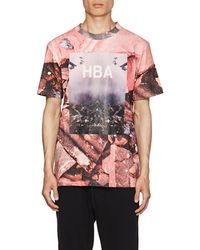 Hood By Air - Overcome-print Cotton T-shirt - Lyst
