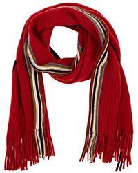 Barneys New York - Stripe-accented Wool-blend Scarf - Lyst