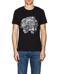 Just Cavalli Abstract-leopard-graphic Cotton T-shirt