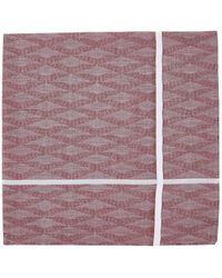 Simonnot Godard - Geometric Cotton Jacquard Handkerchief - Lyst