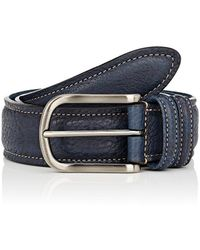 Barneys New York - Grained Leather Belt - Lyst