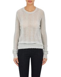 Helmut Lang | Striped Fine Crewneck Sweater | Lyst