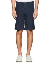 Officine Generale - Fish Cotton Poplin Shorts - Lyst