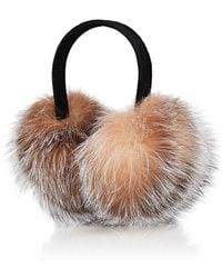 Barneys New York - Fox-fur Earmuffs - Lyst