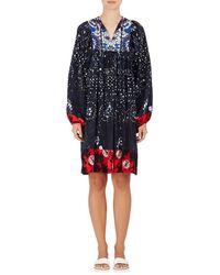 Warm - Tie-dyed Silk Peasant Dress - Lyst