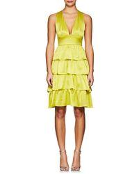 Cynthia Rowley - Silk Ruffle Dress - Lyst