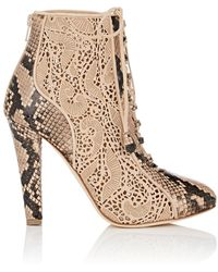 Chloe Gosselin - Nymphea Python & Suede Ankle Boots - Lyst