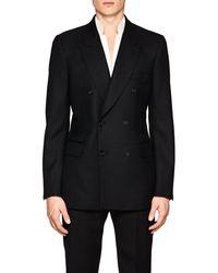 Alexander McQueen - Detachable-collar Wool-mohair Double-breasted Sportcoat - Lyst