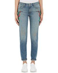 Sandrine Rose - Embroidered Skinny Boyfriend Jeans - Lyst