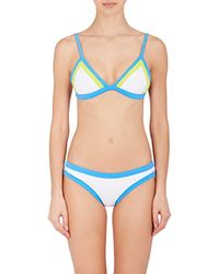 MILLY   Colorblock Triangle Bikini Top   Lyst
