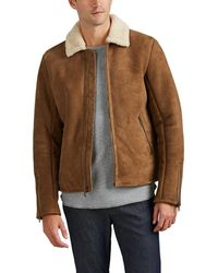 Barneys New York - Shearling Jacket - Lyst