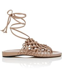 Alumnae - Knotted Suede Thong Sandals - Lyst