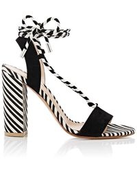 Gianvito Rossi - Antibes Canvas & Suede Sandals - Lyst